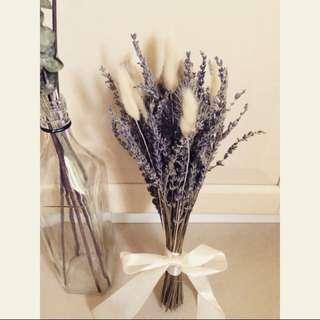 薰衣草冬季戀歌乾燥花束 / 薰衣草 兔尾草 Zakka 婚禮佈置 居家裝飾 乾燥花