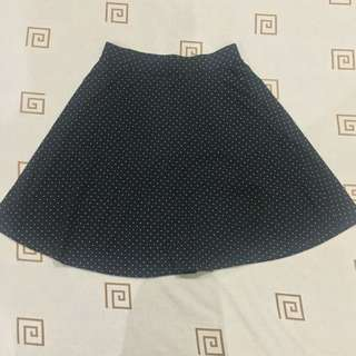H&M Polkadot Flared Mini Skirt