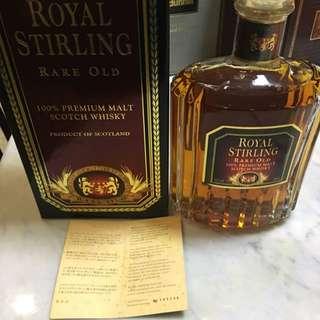 Royal Stirling Rare Old 100% Premium Malt Whisky