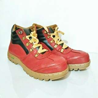 Safety Boots GHR PX(MAROON) Sepatu Kulit Safety Made In Majapahit Indonesia