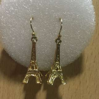 Preloved Authentic Kate Spade Eiffel Tower Earrings