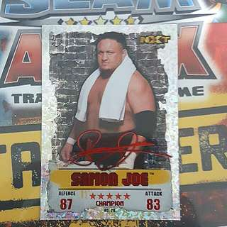 Slam Attax Takeover Samoa Joe Red Champion Card