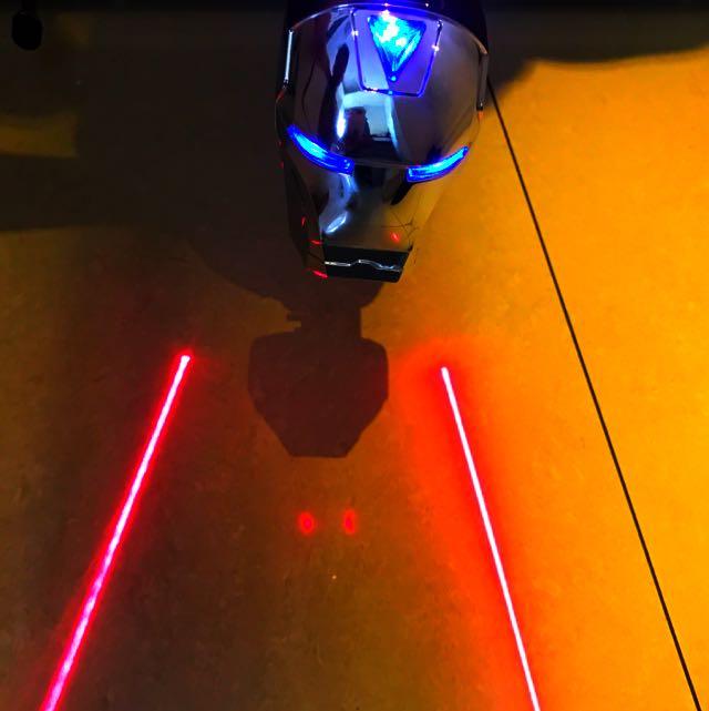 鋼鐵人腳踏車安全後燈!#電燈#腳踏車#單速車#鋼鐵人#復仇者聯盟