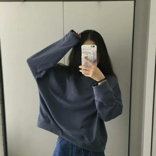 超美灰藍色上衣✨