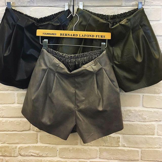 韓版限定~含郵!寬口修飾打折皮褲