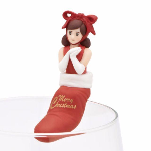 杯緣子 聖誕版 杯緣子OL小姐 公仔 聖誕交換禮物 聖誕襪版 現貨