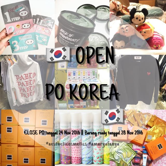 🇰🇷 OPEN PO KOREA 🇰🇷