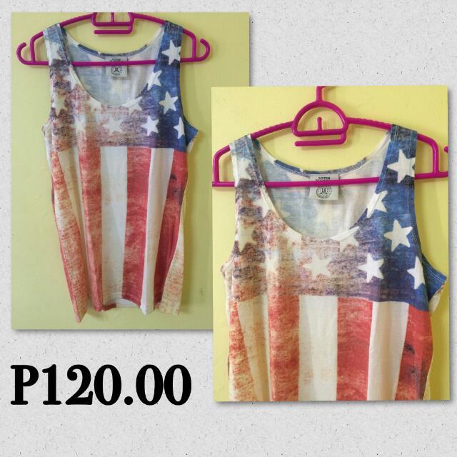 Americam Flag Design Shirt