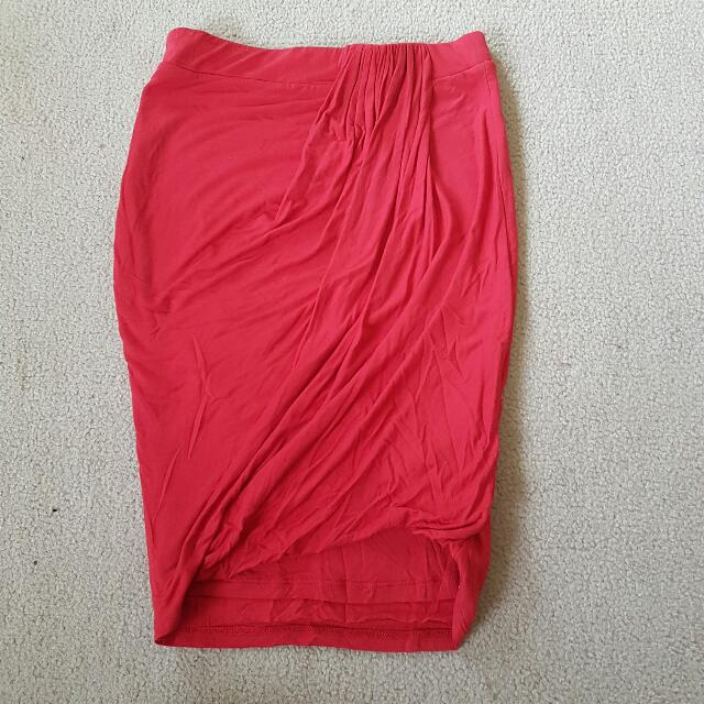 Bardot red skirt size 8