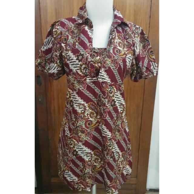 Batik short dress