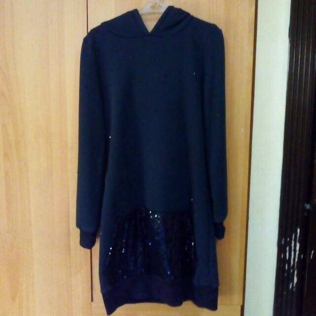 RESERVED: Black Hoodie Dress