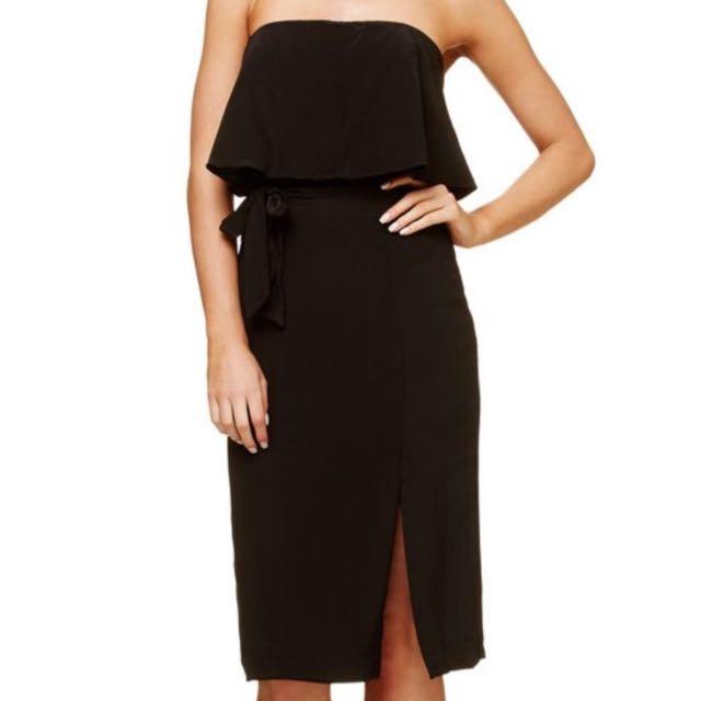 Black Kookai Veleta Dress Size 38/10