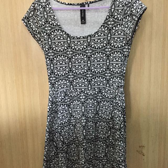 Black&White tshirt Dress