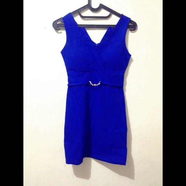 Bodycon dress (velvet blue)