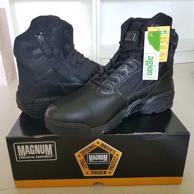 231dadf49d0 (Offer) Brand New Authentic Magnum Stealth Force 6.0 Side Zip Wide MEN  Black Full Grain Leather Boots