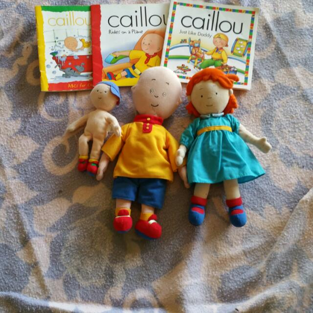 Caillou Rosie And Books