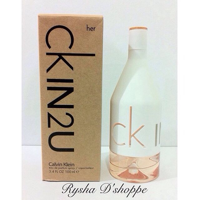 Ck In2u Her By Calvin Klein 100ml Edp Womens Fashion On Carousell