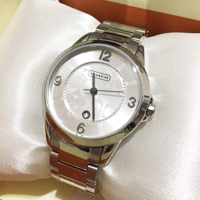 COACH Outlet 經典仕女腕錶 金屬不銹鋼日期表錶