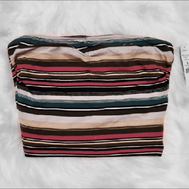 Colourful Bandeau Crop top