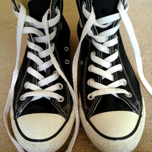 Converse All Star 正版 高統 黑色 基本款 帆布鞋 休閒鞋