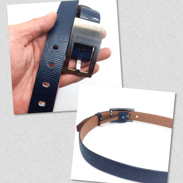 41e9c2541e3 Custom Made Lizard Skin Belt Strap + Authentic Gucci Belt Set ...
