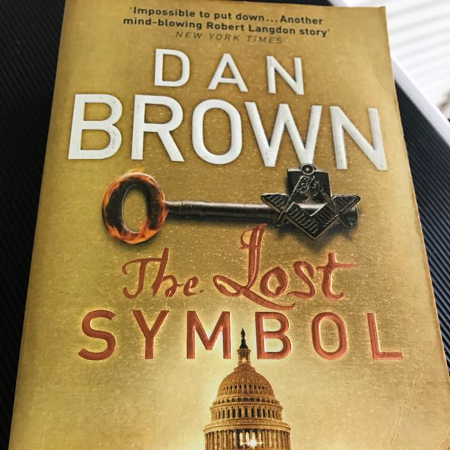 Sold Dan Brown The Lost Symbol Novel Books Stationery Fiction On