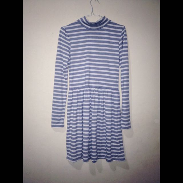"Dress garis"" abu"