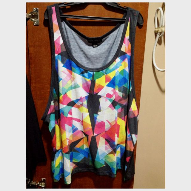 Forever21 Abstract Tank Top