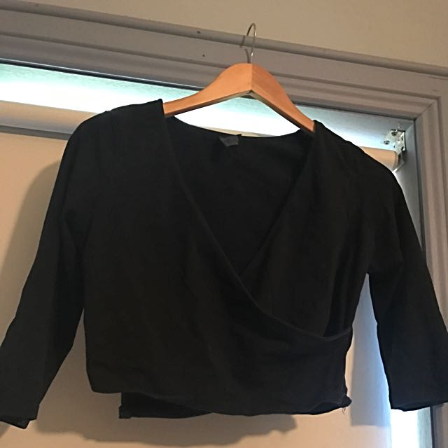 Forever New wrap Top (Size 12/black)