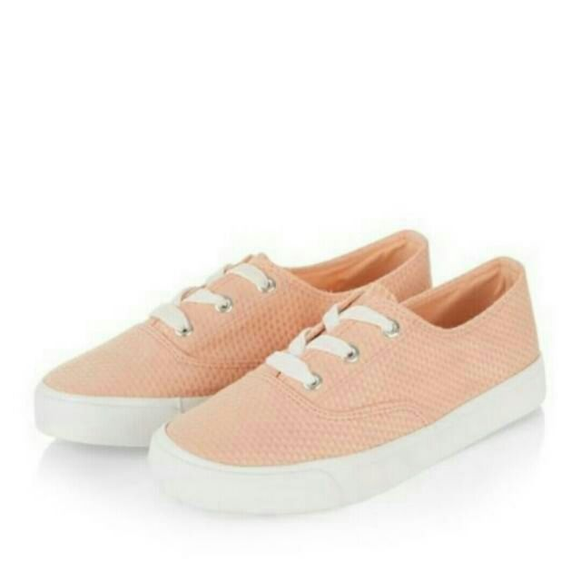 (free ongkir) new look coral sneakers