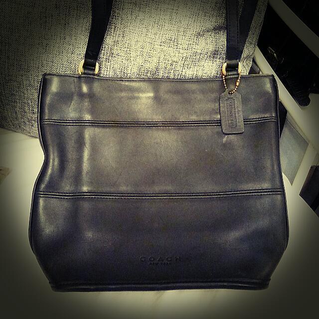 b19eb4860e10 Genuine preloved Vintage Coach Tribeca Shopper Bag - Black - made in ...