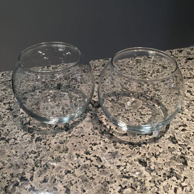 Glass Bowls - Set Of 2