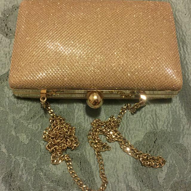 Gold Glittery Bag