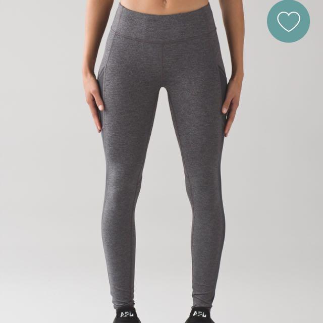Grey Lululemon Pocket Leggings
