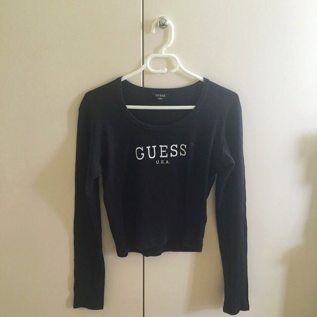 GUESS U.S.A Black Long Sleeve Shirt