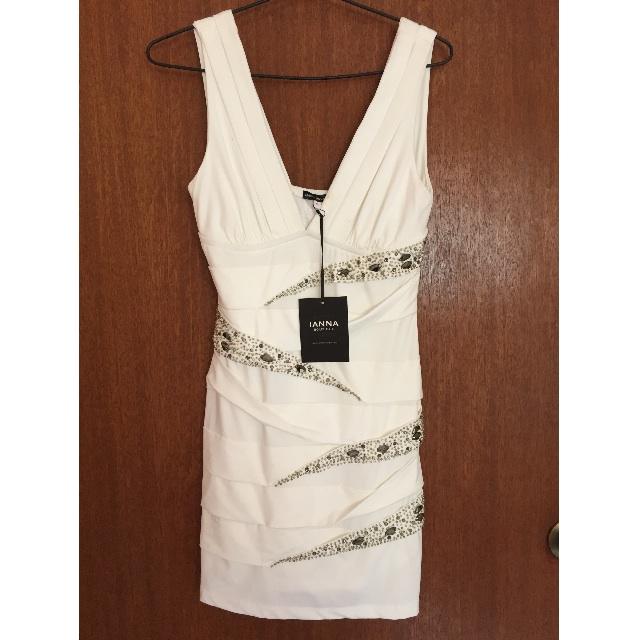 Ianna Boutique White Bandage Dress formal short Size M