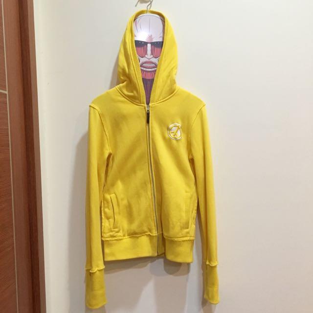 NATURALLY JOJO連帽外套 刷毛 黃色