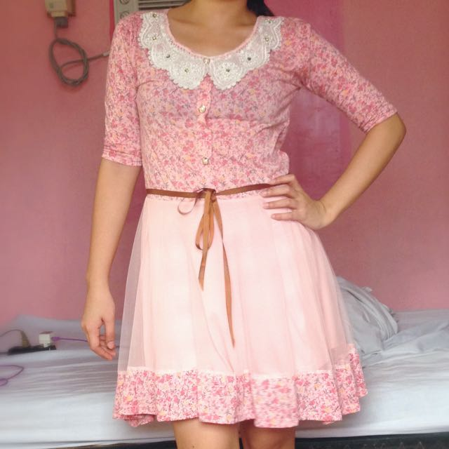 Liz Lisa Inspired Pink Floral Dress