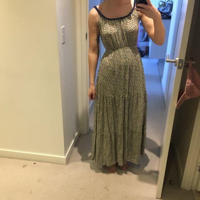 Long Floral Dress Blue