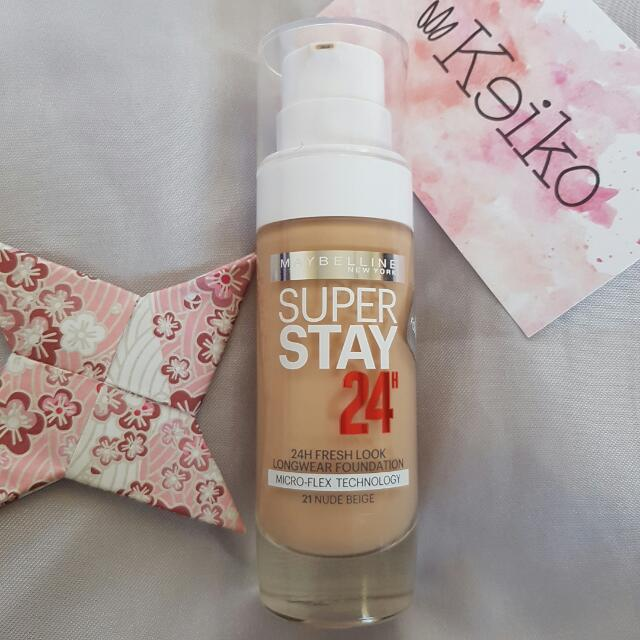 MAYBELLINE Superstay 24HR Foundation 21 Nude Beige