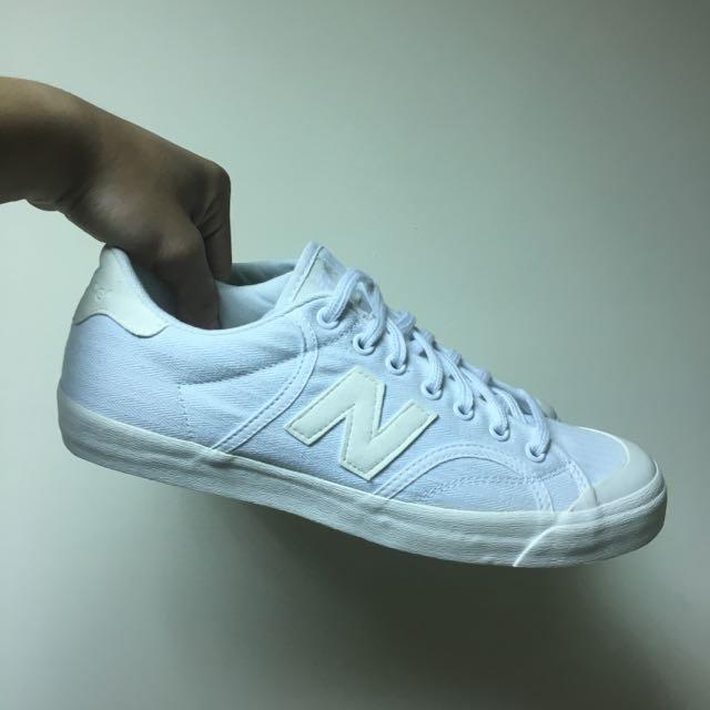 NB New Balance 帆布鞋 全白