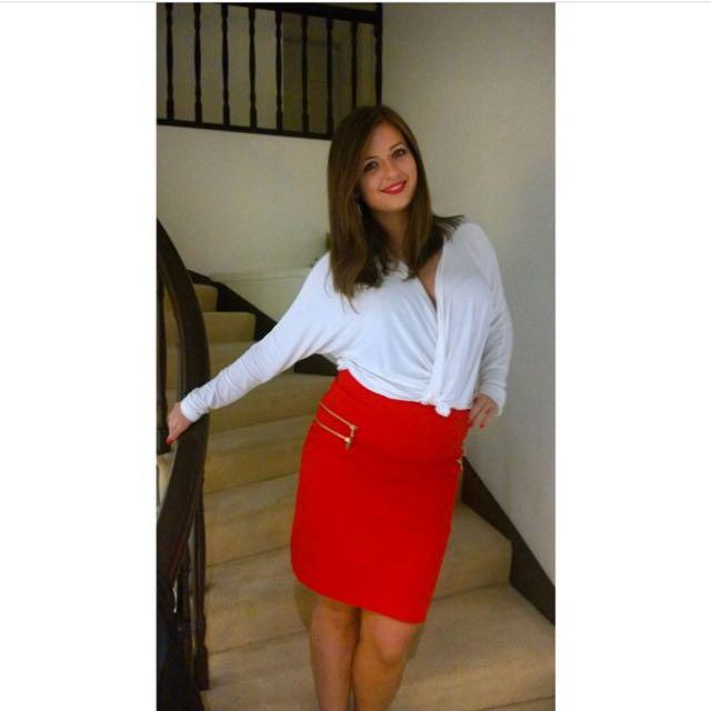 Orange H&M Skirt