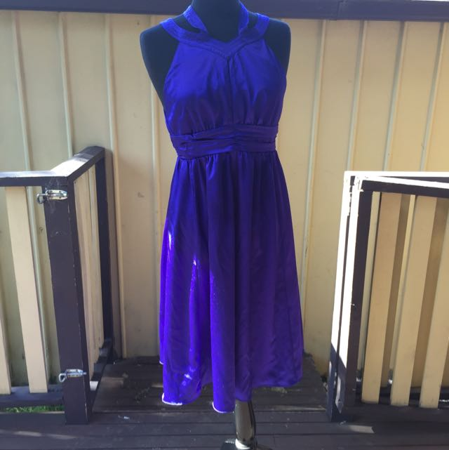 Out With Evie Blue Dress Size 12