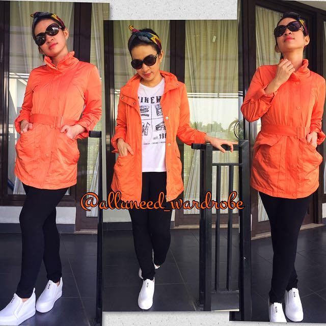 Orange parka