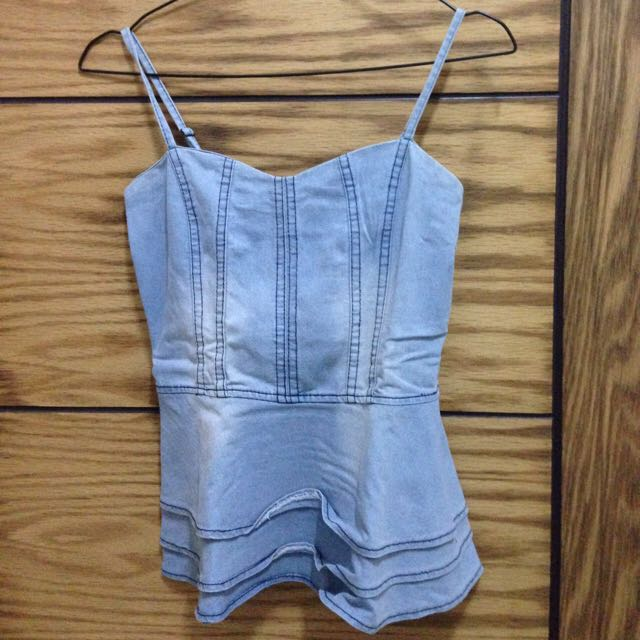 Peplum Jeans Top