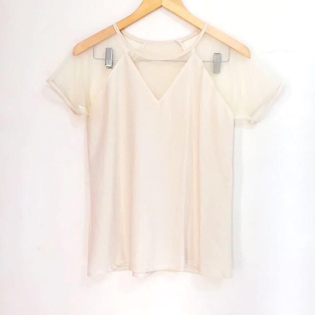 SALE! beige V top
