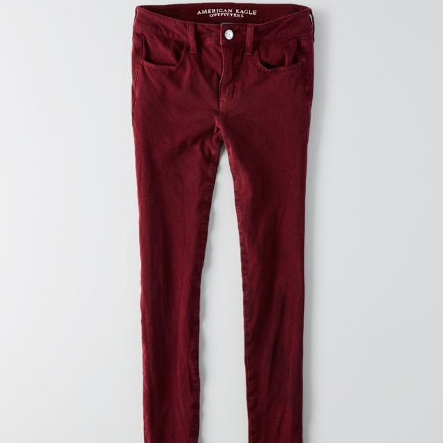 Red American Eagle Jeggings