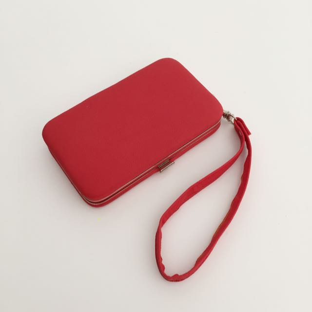 Red Leather Iphone 5 Wallet Case