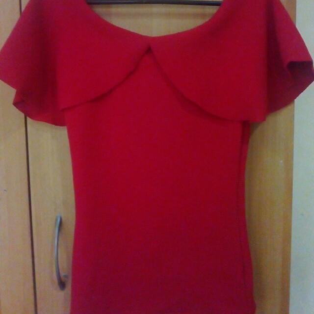 Red Off Shoulder/ Top