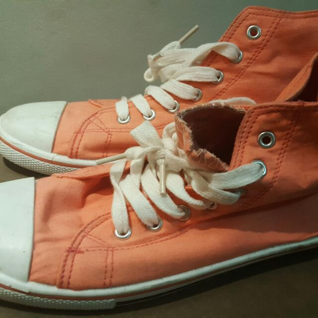 Rubi Cotton On - Peach Hi-Cut Sneakers Sz 40